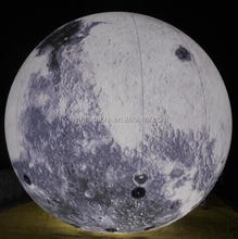 LED illumination inflatable lunar model inflatable moon ball light