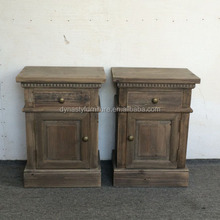 French Antique bedroom small wooden bedside cabinet table