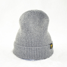 Scottish Wool 100% Cashmere Grey Winter Hat, Custom Wholesale Custom Cashmere Beanie Hats