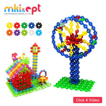 144 PCS Snow blocks non-toxic multicolour funny mini bricks toy for children