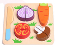 Lovely education cutting vegetables wooden toy set for children,Funny DIY kitchen toys,Cutting vegetables wooden toys
