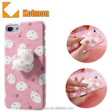 Japan Best Selling Custom Finger Pinch 3D Kneading Squishy Fashion Protective Cartoon 3D Cat Anime Silicone Soft Phone Case