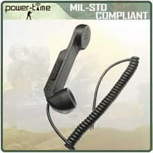 Military flexible bulletproof plastic Handsets for anti riot equipment H189/GR PTE-M003