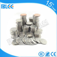 2016 cheap custom token coins for coin operated machine metal coin game token