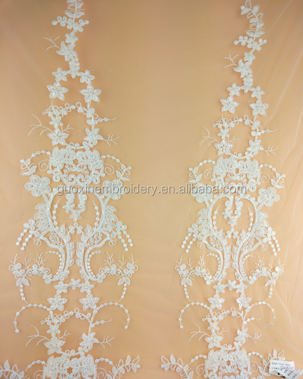 2017high quality fashional style tulle bridal white embroidery lace for wedding