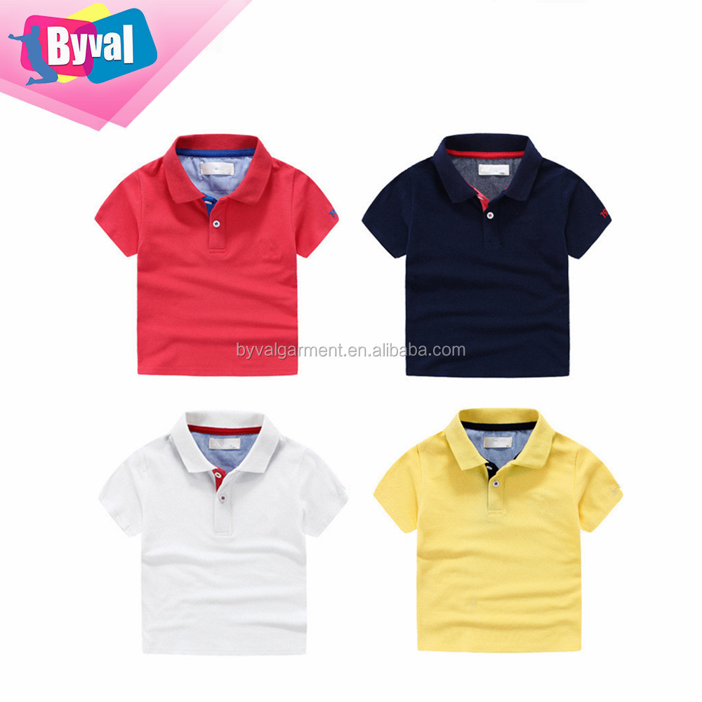 clothing factories in china design kids polo shirts uniform own brand customized kids polo shirts 100% cotton boy's dri fit