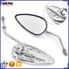 BJ-RM-399 For Harley Universal Custom Aluminum Chrome Fire Housing Motorcycle Rearview Mirror