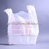 China Manufacture white custom printed plastic t shirt bags for shopping