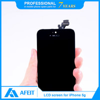 100% Original Wholesale For LCD iPhone 5, for iphone 5 screen replacement, for iphone 5 lcd assembly