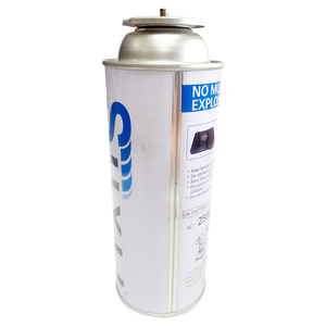 Butane gas cans with gas control valve use for hob