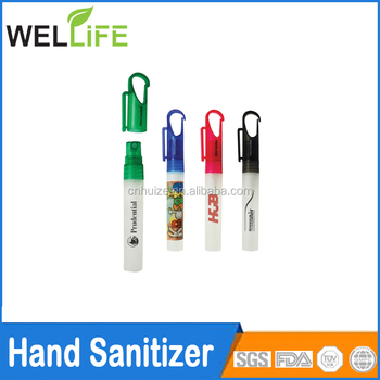 wholesale price high quality oem odm 10ml plastic material pen shaped hand sanitizer industrial use sanitizer refill