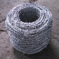Low price hot-dip galvanized barbed wire price per roll