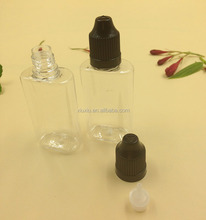 transparent pet plastic square bottles 10ml 20ml 30ml oval PET ejuice bottle