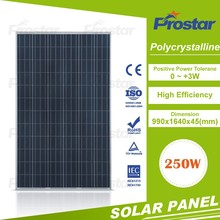 250w polycrystallfactory directly sell solar panel cleaning machwith TUV CE IEC certificate