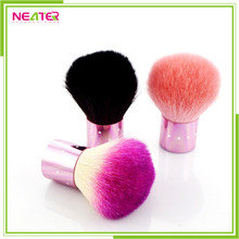 Colorful Synthetic Hair Round Kabuki Makeup Brush With Diamond