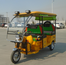 48V 1000W Steel Roof Battery Operated Electric Tricycle for passenger