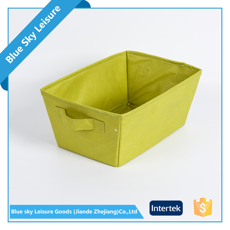 China Wholesale Market Agents PP Non Woven Fabric Reusable Shabby Chic Home Box Storage Without Lid