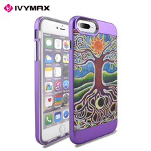 Customized design combo case with colorful priting phone cover for iphone 7 plus