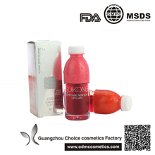 wholesale Fruit juice bottle shape drinks lipgloss lip tint
