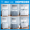 HOMEDEE solid wood kitchen and bathroom cabinet,bathroom furniture white