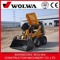0.15 bucket capacity 200kg loading weight mini skid steer loader