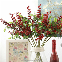 Wholesale Plastic Artificial Berries Branch for Christmas home decoration
