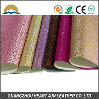 2016 Fashion Color Multi Glitter Pu Leather for Shoes and Bags,Glitter Leather for Decorative and Garment Accessories