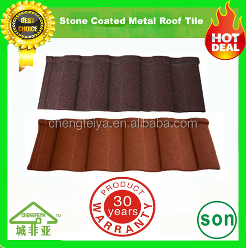 popular low price roman stone coated metal roofing tile
