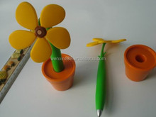 wholesales sunflower plastic ballpoint pen for decoration