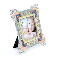 funia frame photo hot !!! metal photo frames wall hanging metal photo frame with clip and rope