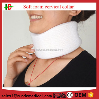 FDA , CE approved white color soft medical cervical neck collar