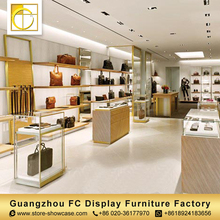 fashion high quality furniture bags display showcase handbag display stand for sale