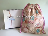2014 cotton drawstring shoe bag