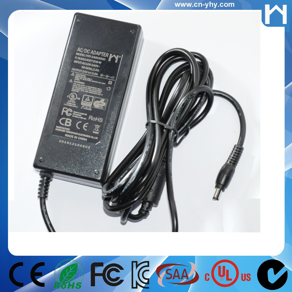 UL Class 2 Power Supply 24V 3A UL 1310 Class 2 Power Adapter 24V 3A for led lighting