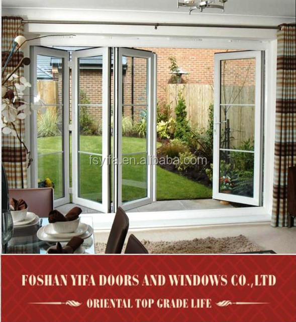 Turbo High Quality Exterior Aluminum Patio Folding Doors With Concealed  IT38