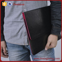 2015 most popular black and red compact leather tablet case for ipad air 3 cover