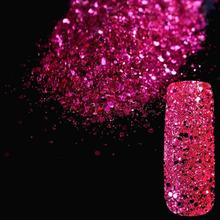 3D Mix Size Hot Pink Rose Glitter Shining Manicure Sheet Dust Powder for Nail Art DIY Decoration & Body Glitter Crafts 268