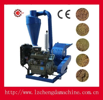 wood , tree branches and straw /agriculture plants stalk hammer mill diesel engine driven with Electric starter