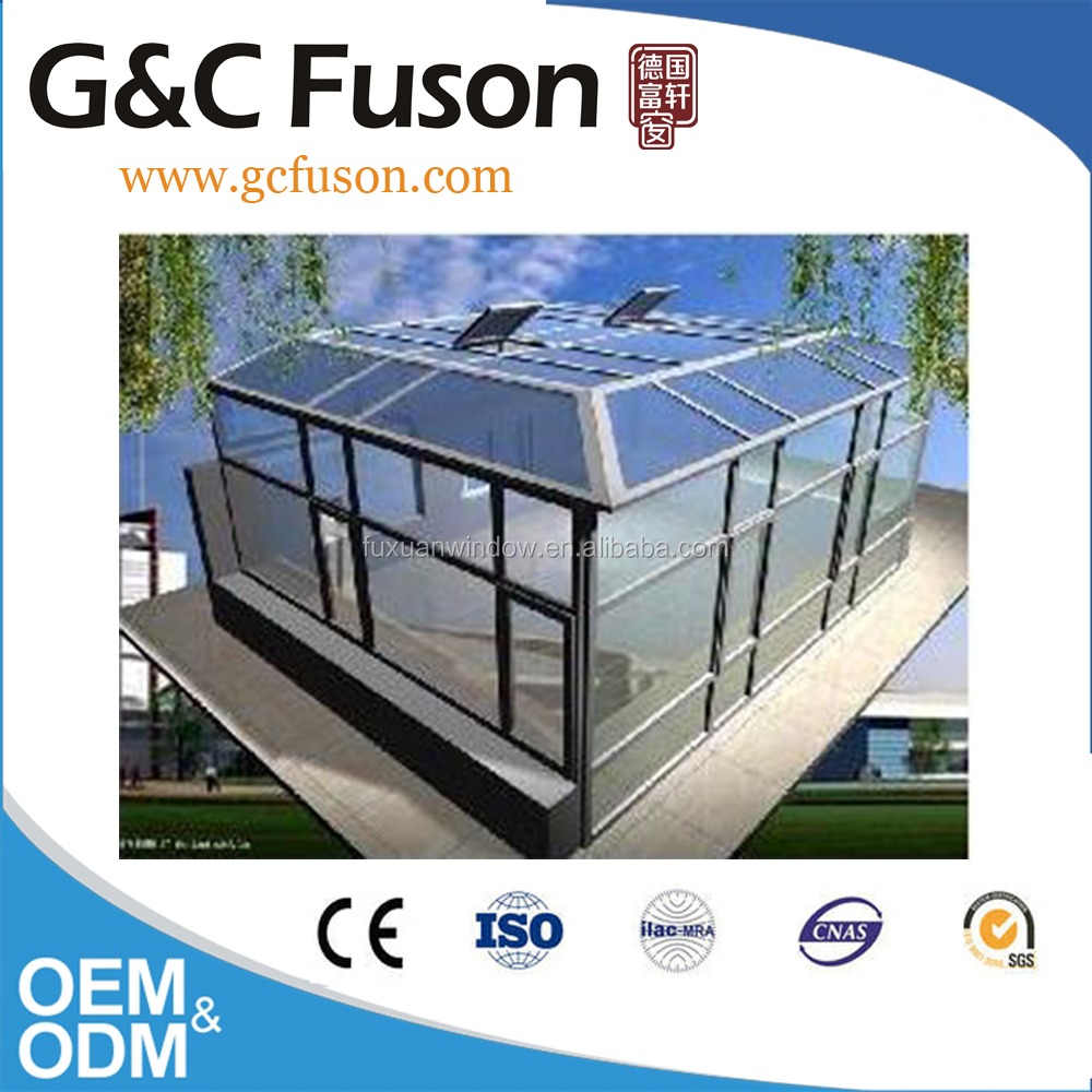 Energy-saving tempered Insulated Glass Sunroom glass house sun room