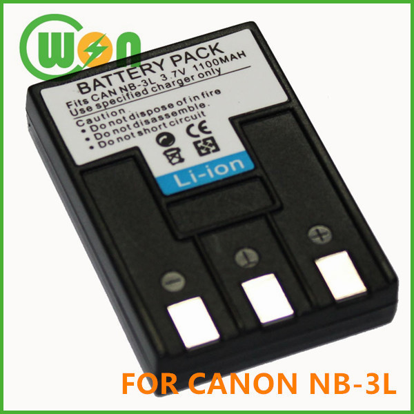 NB-3L NB3L Replacement Battery for Canon PowerShot SD100 SD20 SD550 Camera Battery