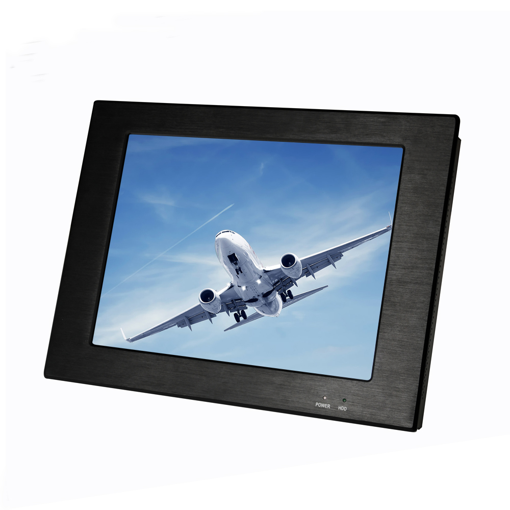 "15"" lcd touch screen monitor/industrial all in one with resolution 1024 X 768 open frame"