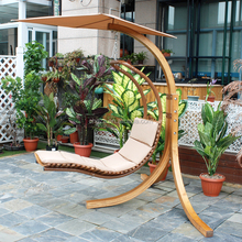 F40894A-1 Solid wood carved leisure ways outdoor furniture single swing/rocking chair