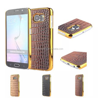 Shenzhen Cheap Carbon Fiber Grain Electroplate Chrome Hard back Phone Case Cover For Samsung Galaxy S6