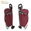 Folding shopping trolley bag/portable luggage bag with wheels