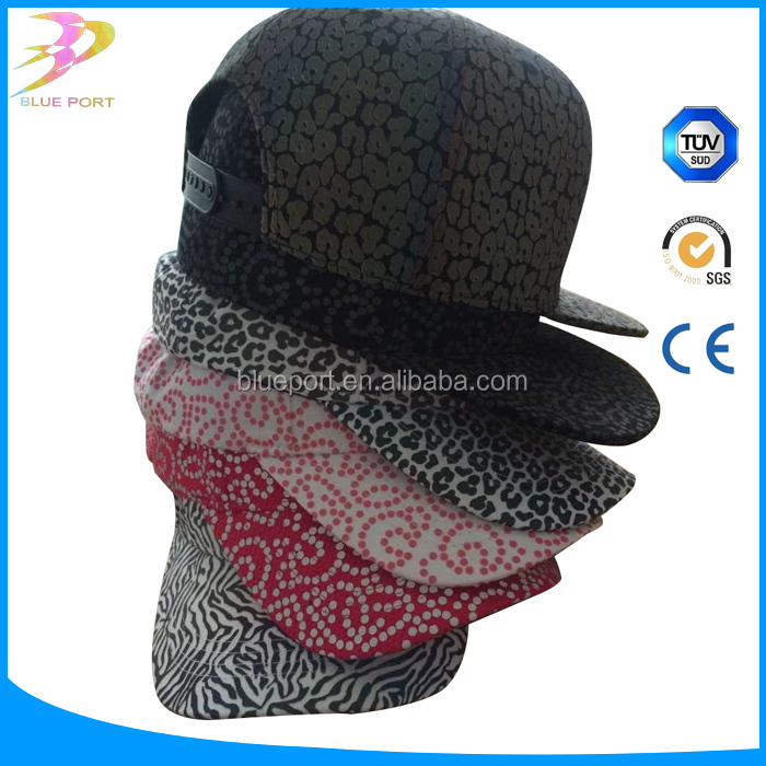 High Visible Color Rainbow Reflective Printed Fabric for hat