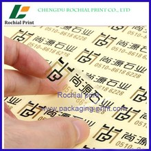 100% factory price custom clear plastic labels printing