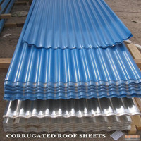 Blue and White corrugated roofing sheets