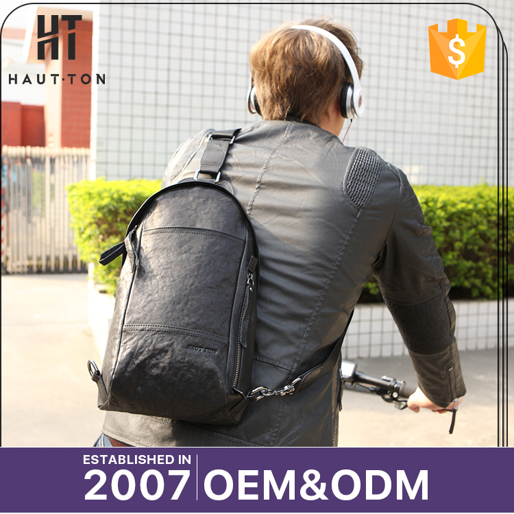 Hot Sale Fashion Man Casual Small Shoulder Bag Pack Professional Medium Genuine Cow Leather Chest Bags For Men