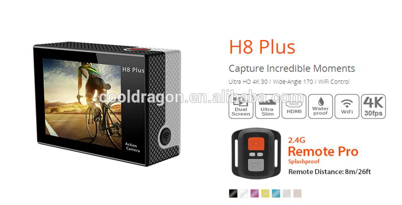 Hot selling EKEN H8 plus Ambarella A12 action camera 4k sport camera with wifi with great price