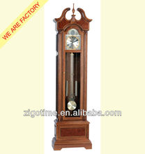 wooden antique grandfather clock with westminster chime